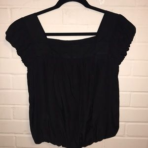 Black sinched blouse
